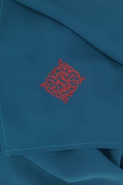 Voile en Georgette de soie bleu canard