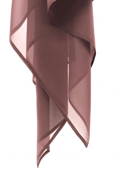 Glossy brown silk Georgette Hijab - L'étoffe de Saba
