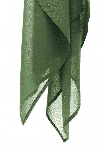Voile en georgette de soie vert boisé L'étoffe de Saba