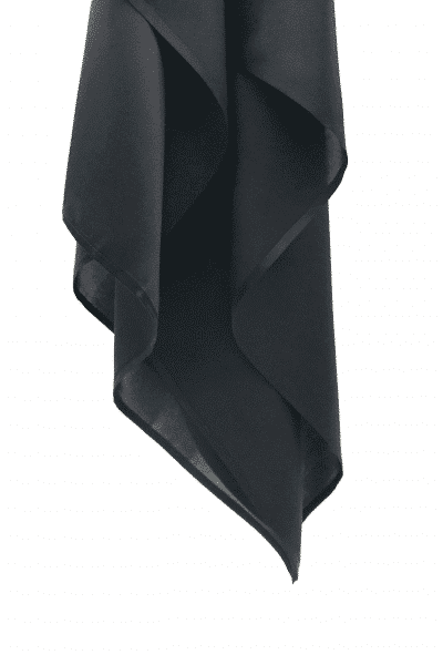 Voile en satin de soie noir L'étoffe de Saba