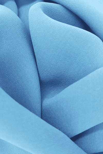 Georgette de soie bleu