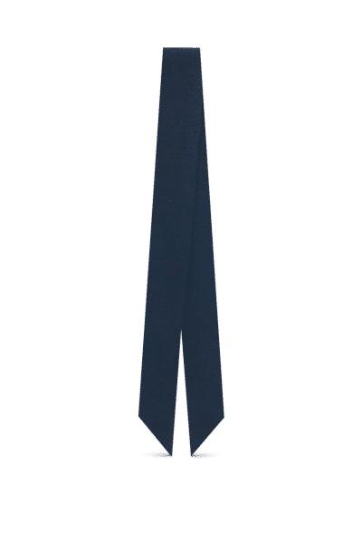 Adriatic blue silk crepe scarf - L'étoffe de Saba