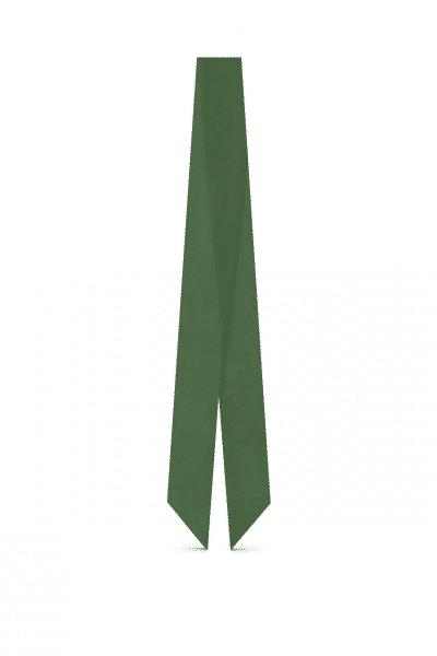 Woody green silk Georgette scarf⬩L'étoffe de Saba