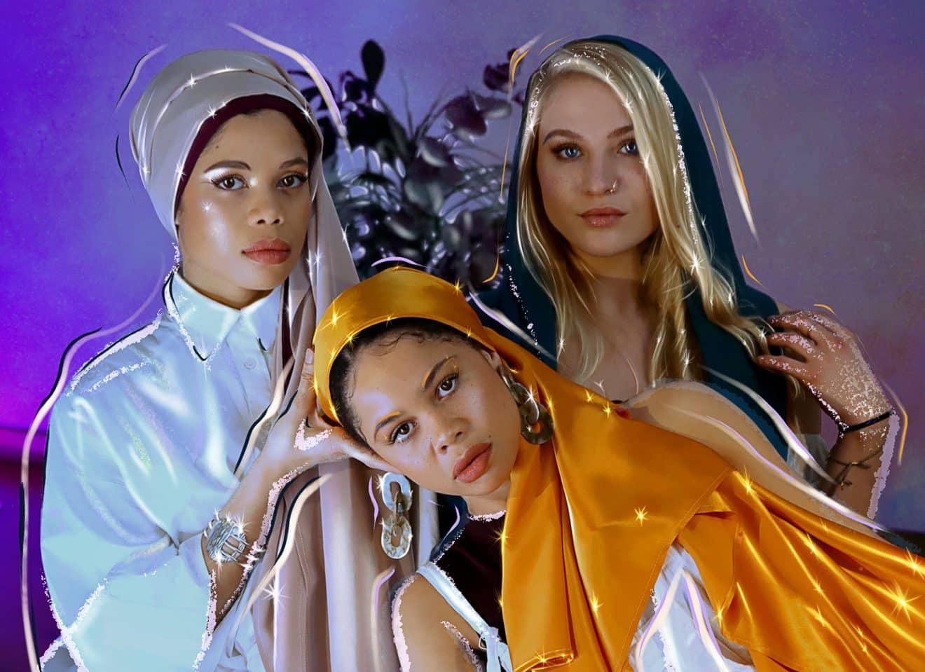 نسيج حجاب L'étoffe de Saba من الحرير الطبيعي جورجيت صنع في فرنسا