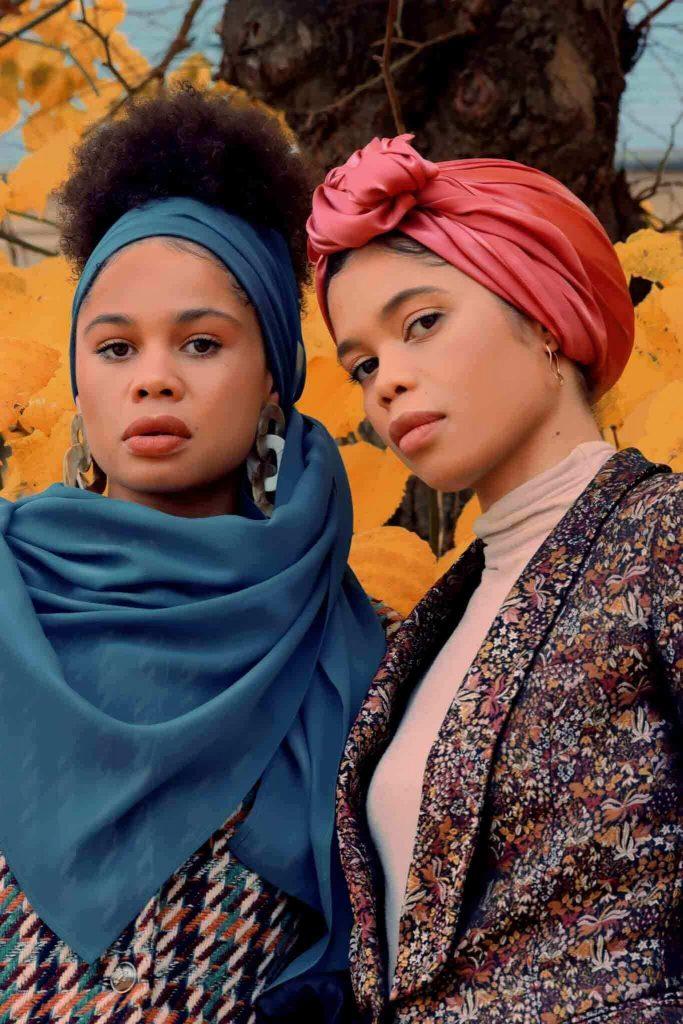 حجاب من الحرير جورجيت أزرق بترولي - قماش سابا