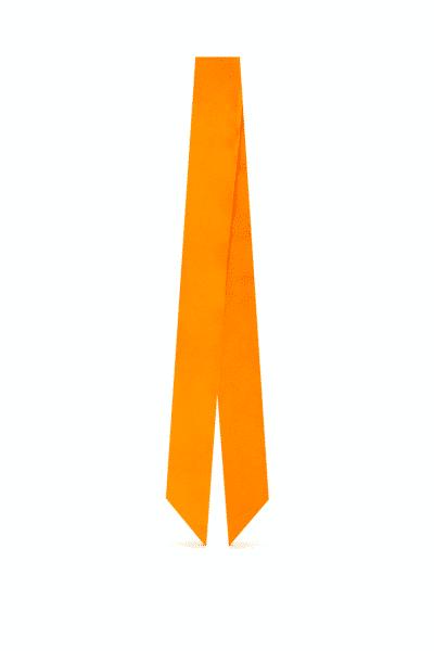 وشاح الحرير البرتقالي والأصفر⬩لنسيج سابا