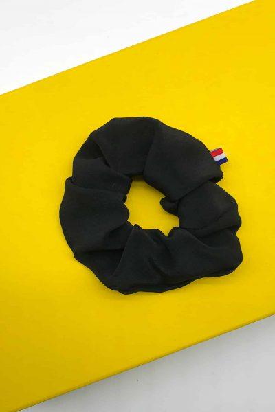 Chouchou en georgette de soie noir
