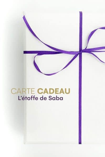 Carte cadeau L'étoffe de Saba